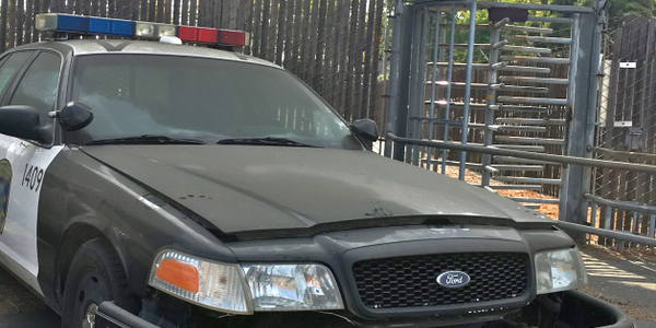 Example of a police vehicle used for PIT maneuver training