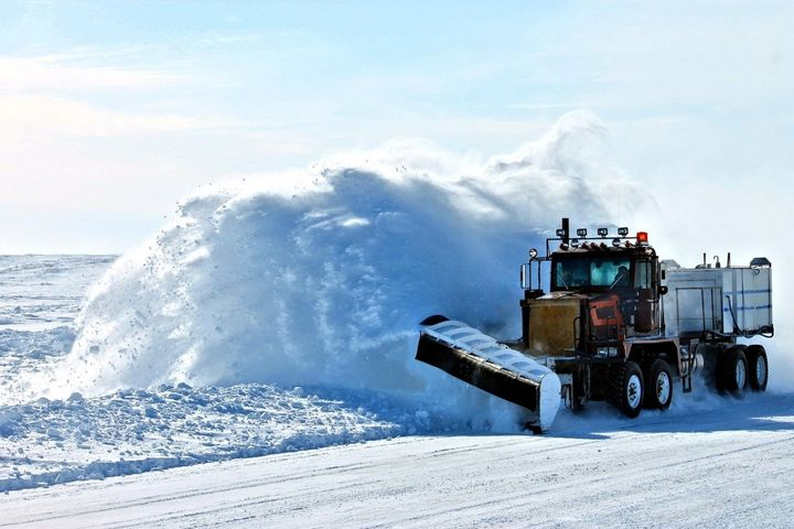 New York state agencies will have plow trucks and other snow, ice, and debris removal equipment ready to deploy. - Photo of a snowplow via Pixabay