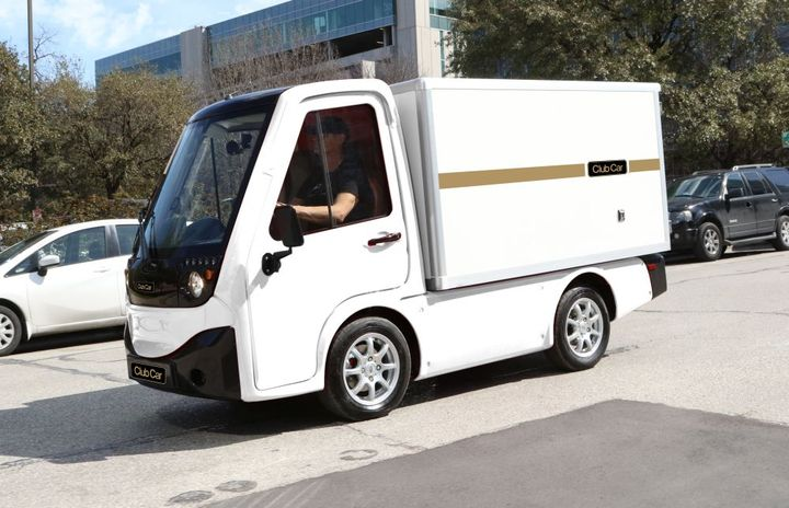 The Club Car 411 is a battery-electric utility vehicle.  - Photo courtesy of AEV Technologies
