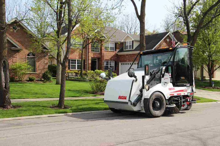 Elgin Sweeper has partnered with RoadBotics to offer Florida's municipalities the ability to collect road condition data during sweeping operations using Elgin Sweeper street sweepers, like the Elgin Pelican broom sweeper.