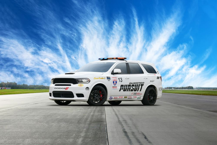 The concept vehicle, nicknamed Speed Trap, is based on the Dodge Durango Pursuit.  - Photo courtesy of Dodge