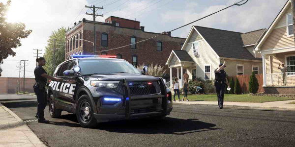 The Police Interceptor Utility Hybrid has an EPA-estimated 24 mpg combined rating.