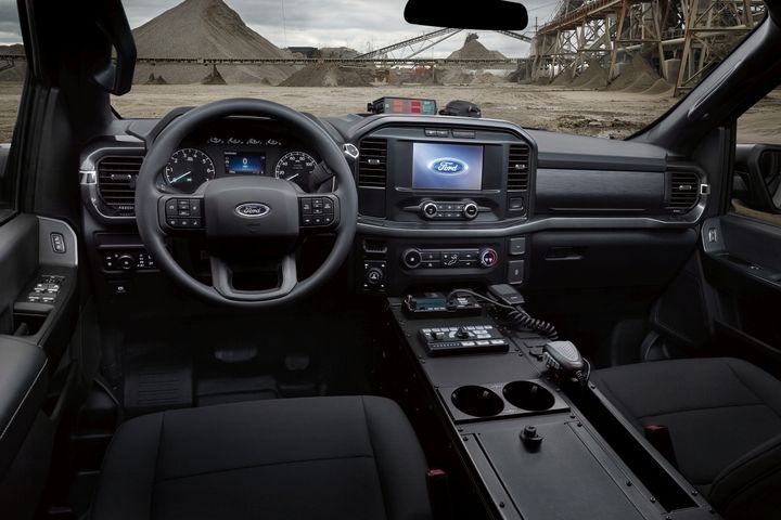 The F-150 Police Responder has more interior passenger volume and more head, hip, and shoulder room than any other pursuit-rated offering. - Photo: Ford