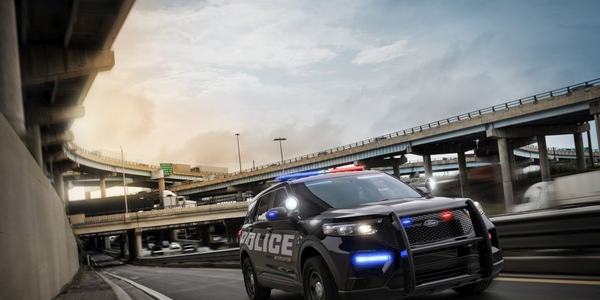 The 2020 Ford Police Interceptor Utility comes standard with a hybrid powertrain.
