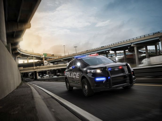 The 2020 Ford Police Interceptor Utility Hybrid has an EPA-estimated rating of 23 mpg city/24 mpg highway/24 mpg combined.