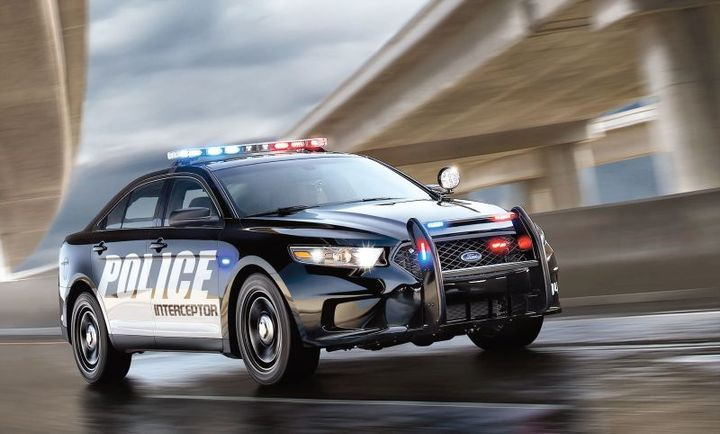 Photo of the 2017 Police Interceptor Sedan courtesy of Ford