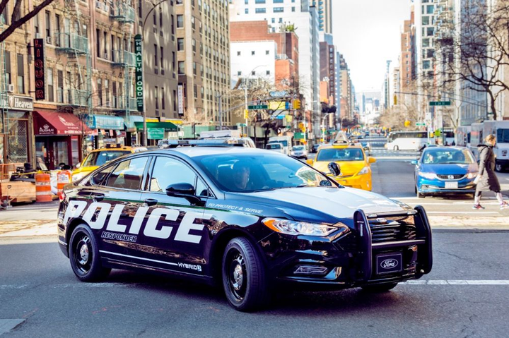 The Ford Police Responder Hybrid is the pursuit-rated hybrid vehicle.  - Photo courtesy of Ford