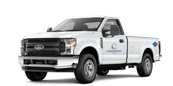 Pictured is a F-250 Landi Renzo CNG System with underbody tank package.