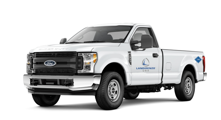 Pictured is a F-250 Landi Renzo CNG System with underbody tank package.  - Photo courtesy of Landi Renzo