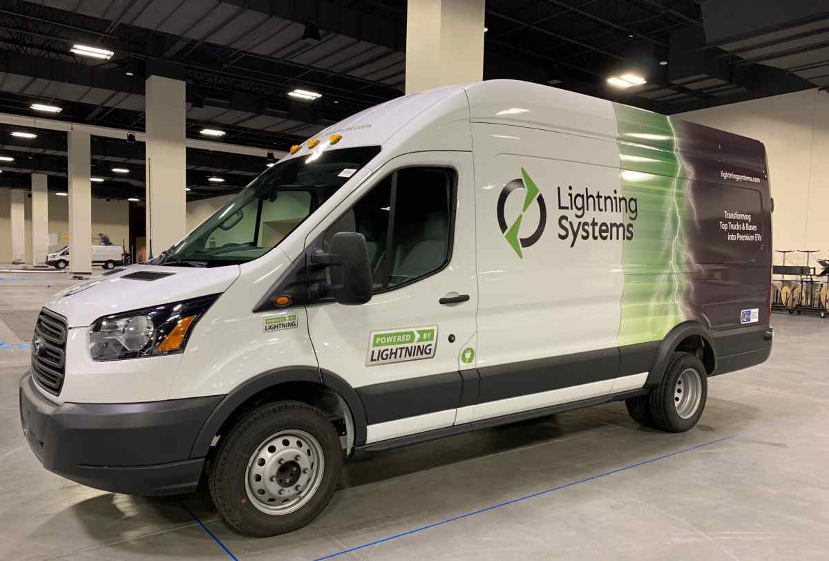Lightning Systems Electric Ford Transit Adds Range