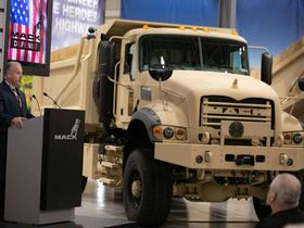 U.S. Army Gets First Mack Defense Heavy Dump Trucks