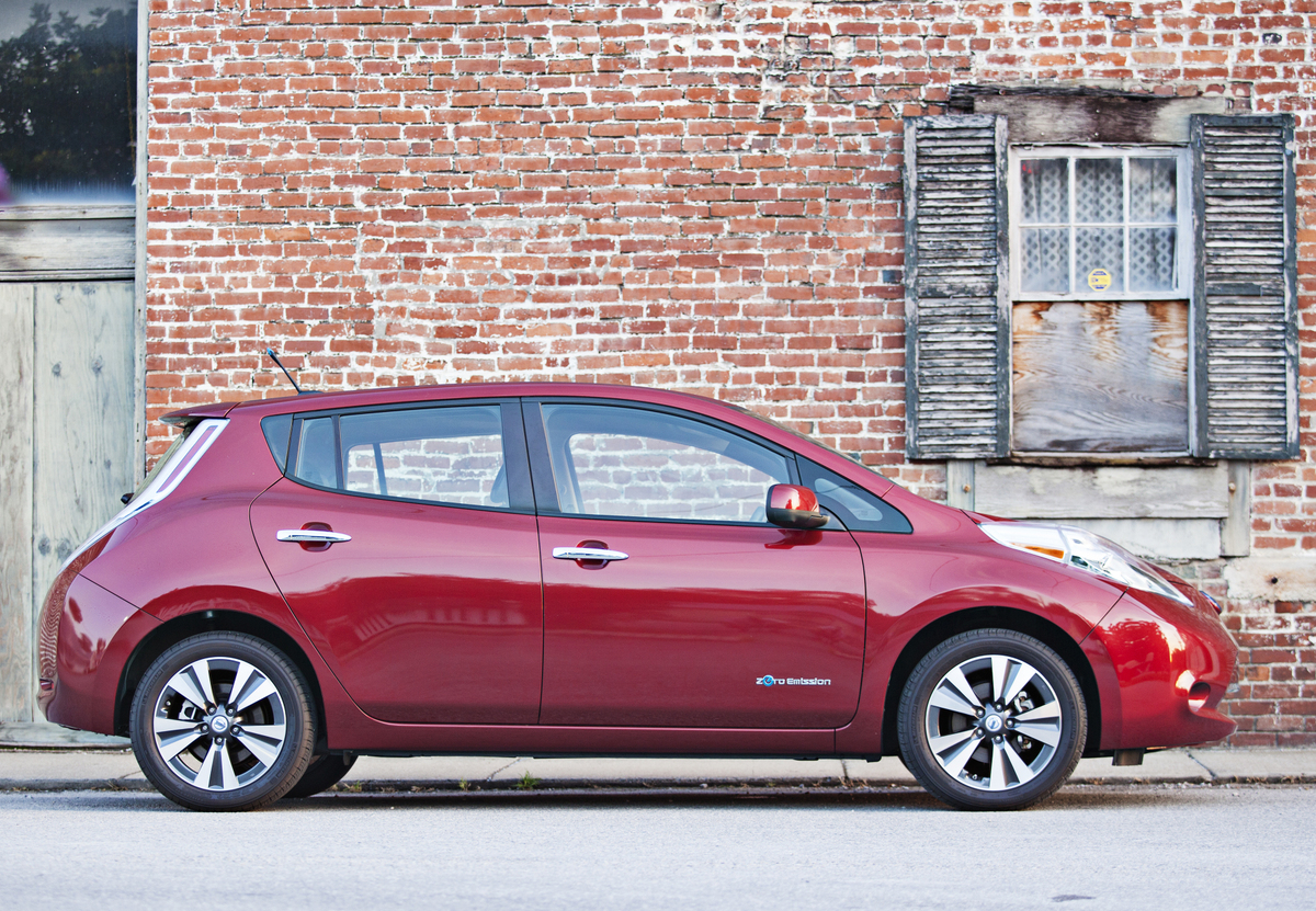 The state fleet already includes 10battery-electric 2014 Nissan Leaf sedans.  - Photo courtesy of Nissan