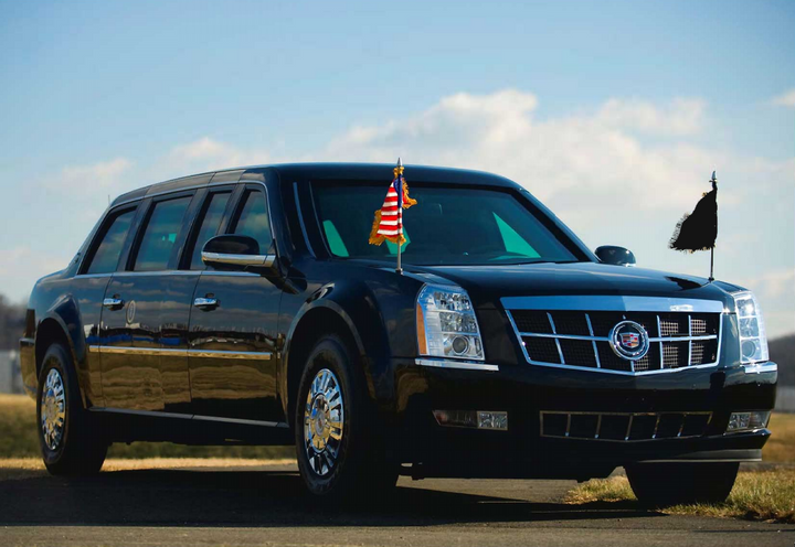 Photo of 'The Beast,' the current model presidential limo, courtesy of the U.S. Secret Service