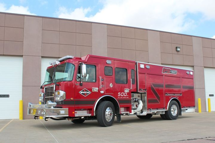 The IPS-NST pumper offers power in a compact design.  - Photo courtesy of Spartan Motors