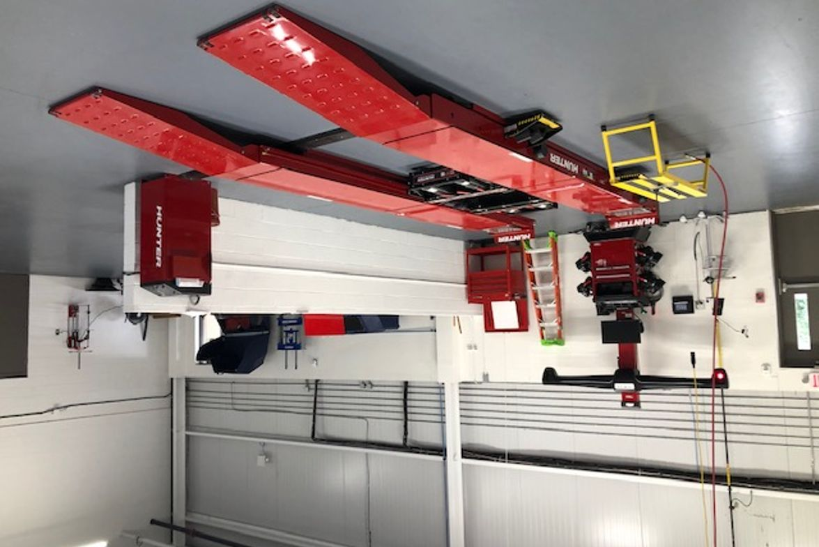 New shop equipment includes an alignment machine.