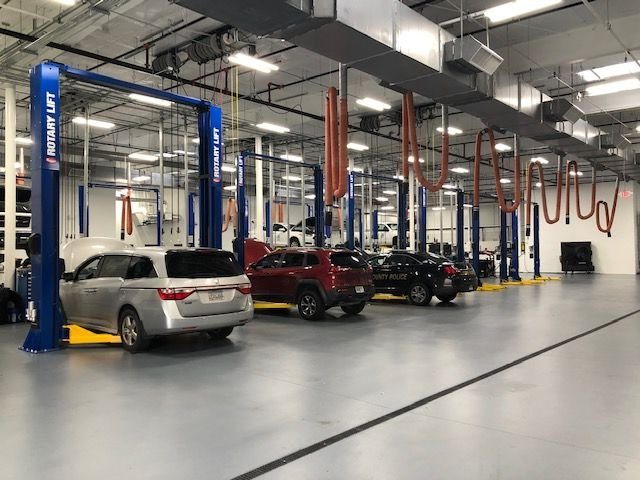 The building houses the car and light-duty shop, and it will be used to service about 1,600...