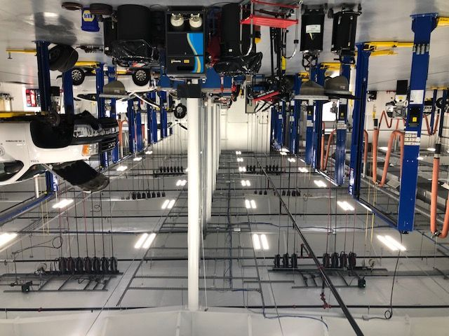The shop's fluid management system is connected to the parts management system for accurate...