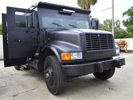 The Police Department received the armored truck for a nominal price and asked fleet to...
