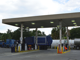 Pictured is one of the city's 10 fueling facilities.