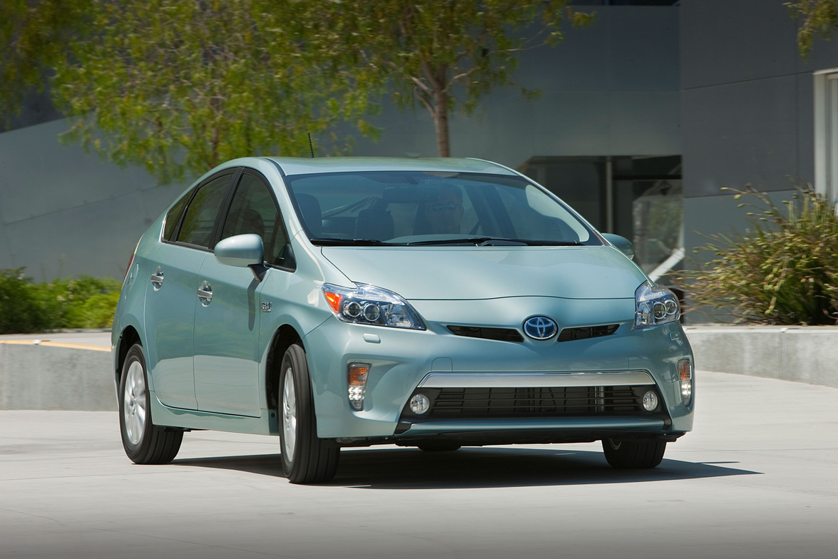 The 2012-MY Prius Plug-in Hybrid features different exterior trim features than the standard Prius.