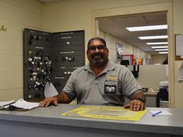 William Marrero, fleet logistics technician,handles sublets, invoices, and requisitions.