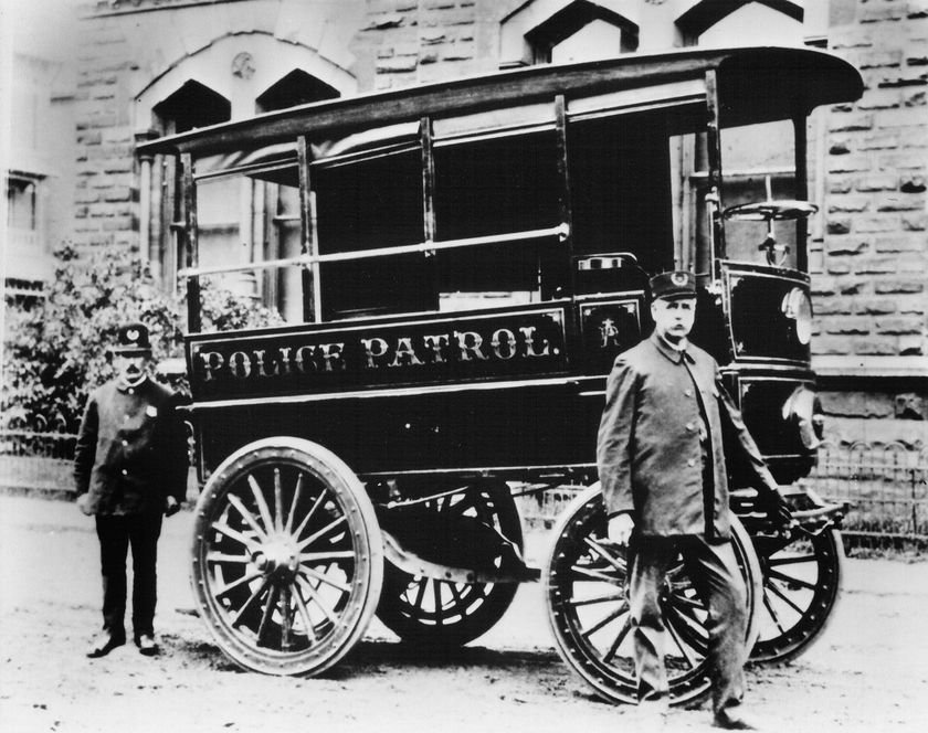 First motorized police patrol wagon: The City of Akron, Ohio, claims to have the world's first...