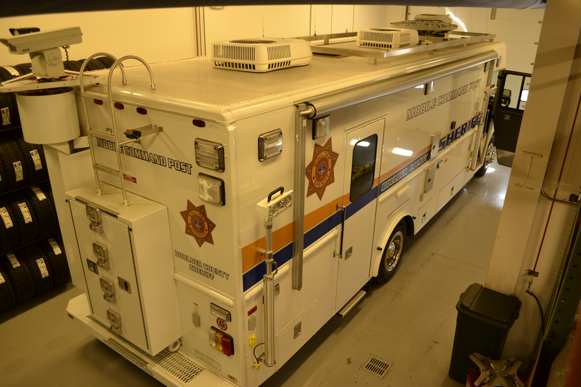 The Sheriff's Office purchased this mobile command post in 2008. It is built on a Freightliner...