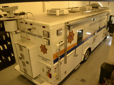 The Sheriff's Office purchased this mobile command post in 2008. Itis built on a Freightliner...