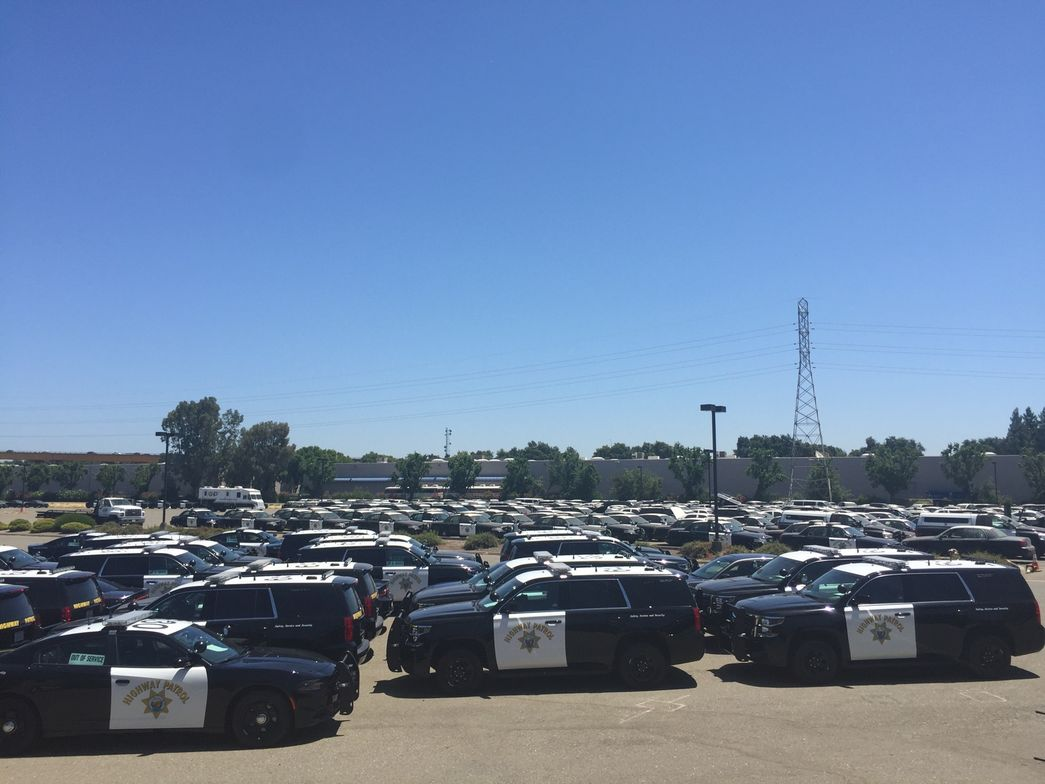 The CHP fleet consists of 4,533 vehicles, including 2,501 black and white enforcement units.