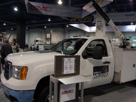 GMC had the Sierra at the show, with various service bodies and upfits on display.