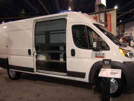 Jumping into vans, Chrysler displayed the new Ram Promaster.