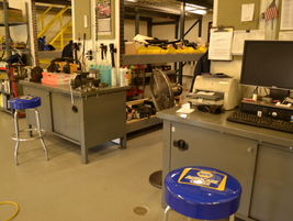 Pictured are technician work stations.