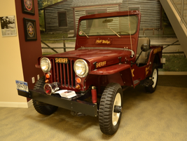 This 1949 vehicle was on display at the Sheriff's Office.