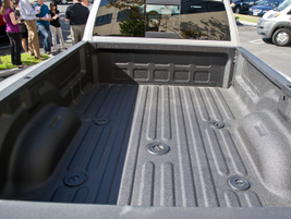 The truck comes with an 8-foot bed that offers towing points for a gooseneck or fifth-wheel set up.