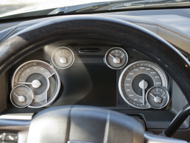 A multitude of gauges on the instrument panel provide operational data.
