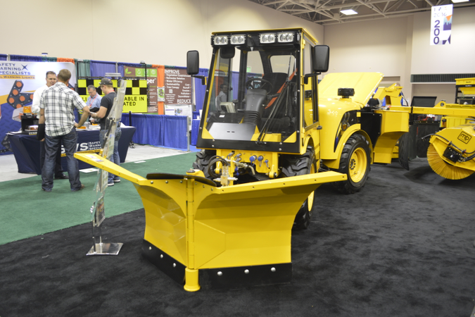 M-B Companies' multi-service vehicle (MSV) is often used for sidewalk and path maintenance, both...