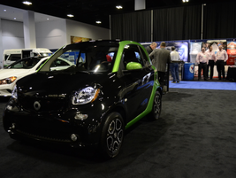 The Mercedes smart electric vehicle has a range of 68 miles in combined driving cycles.