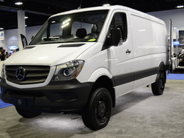 The 2016 Mercedes Sprinter 2500 with standard roof height features a V-6 diesel engine.