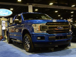 The 2018 F-150 (prototype shown) includes fleet-exclusive features such as a backup alarm...