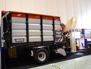 The Trilo leaf collector with suction hose and a pickup head can be operated by one person and...