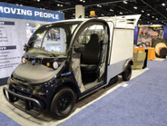 Polaris' Gem eL XD all-electric utility vehicle features bucket seats, a 1-kW on-board charger,...