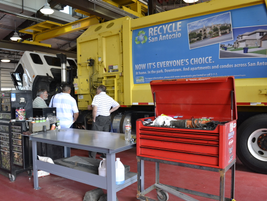 The new truck center is one of seven maintenance facilities operated by the City.