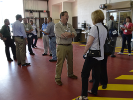Guests were invited to walk around the new shop and ask technicians questions.