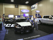 Ford's vehicles included the new Police Responder Hybrid concept vehicle and the F-150.