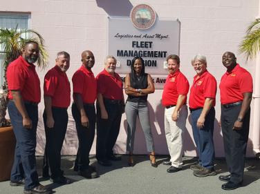 "The City of Tampa fleet management ""dream team"" consists of (l-r): Arturo Betty, John Daff, Earl..."