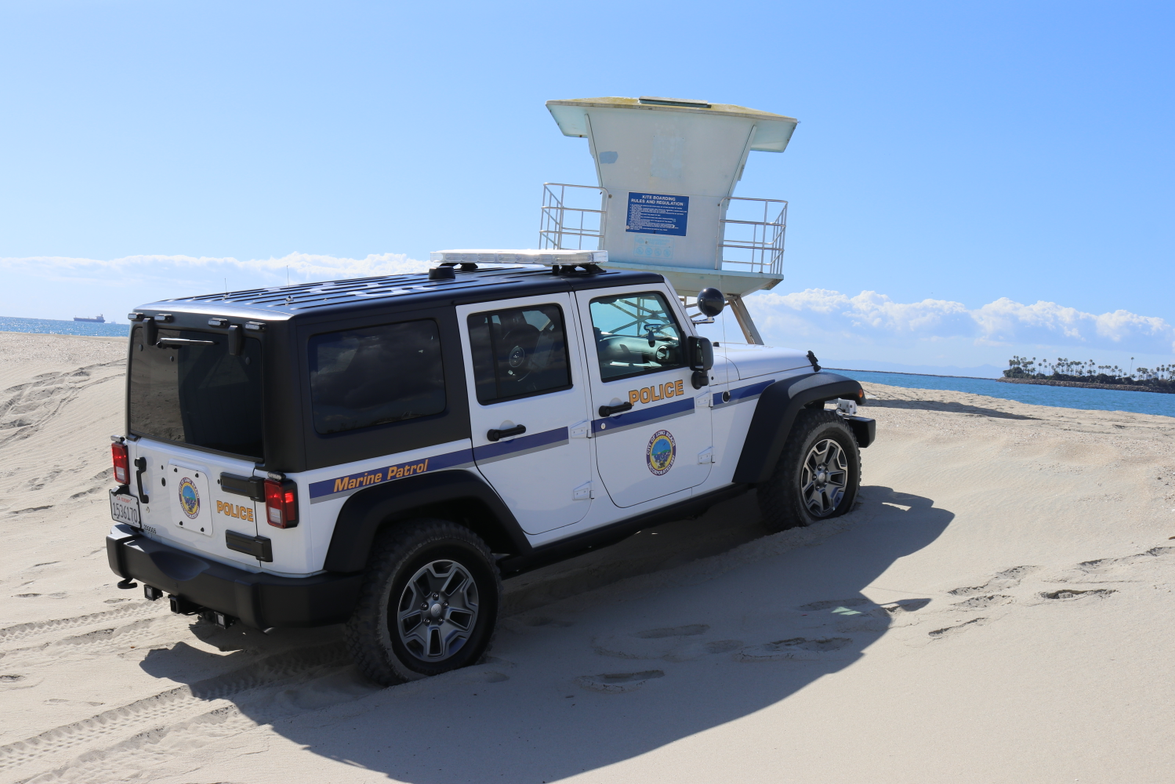 Power is necessary when patrolling on sand and through water. For the City of Long Beach Marine...