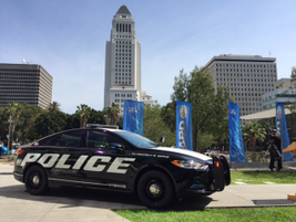 Ford revealed the new model at a press event in downtown Los Angeles.Photo by Thi Dao