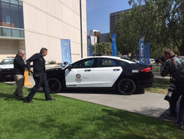 The Police Responder Hybrid was revealed at Los Angeles Police Department headquarters, and...