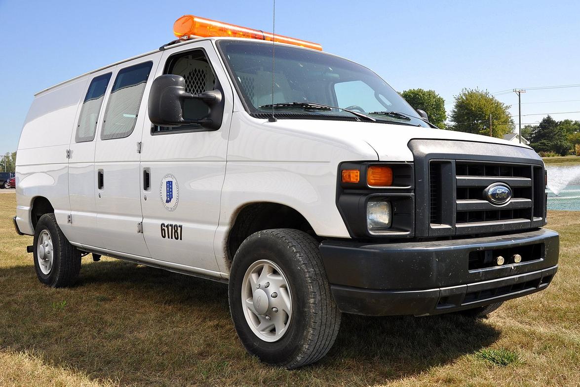 One of INDOT's bi-fuel propane cargo vans.