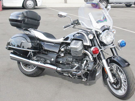 This Moto Guzzi arrived for display and wasn't tested.